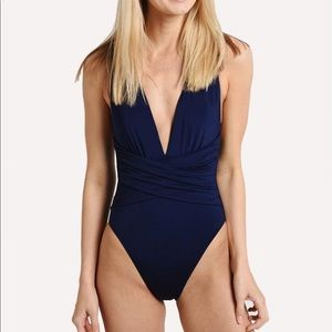 Trina Turk Wrap Front One Piece Swimsuit NEW $132